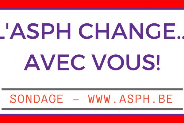 L'ASPH change avec vous ! (Sondage)